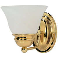 Empire 1 Light 6 inch Polished Brass Vanity & Wall Wall Light