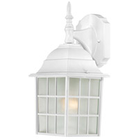 Nuvo 60/3480 Signature 1 Light 14 inch White Outdoor Wall Sconce