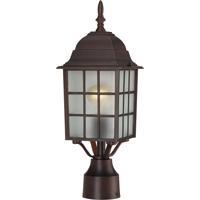 Nuvo 60/3483 Signature 1 Light 18 inch Rustic Bronze Post Lantern