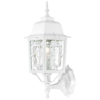 Nuvo 60/3487 Banyon 1 Light 17 inch White Outdoor Wall Sconce