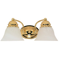 Nuvo Lighting Empire 2 Light Vanity & Wall in Polished Brass 60/349