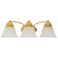 Empire 3 Light 21 inch Polished Brass Vanity & Wall Wall Light