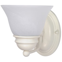 Nuvo 60/352 Empire 1 Light 6 inch Textured White Vanity Light Wall Light
