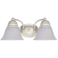 Empire 2 Light 15 inch Textured White Vanity & Wall Wall Light