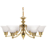 Empire 6 Light 26 inch Polished Brass Chandelier Ceiling Light