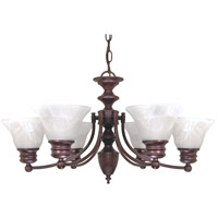 Empire 6 Light 26 inch Old Bronze Chandelier Ceiling Light