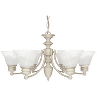 Empire 6 Light 26 inch Textured White Chandelier Ceiling Light