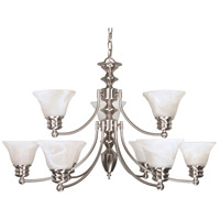 Nuvo Lighting Empire 9 Light Chandelier in Brushed Nickel 60/360