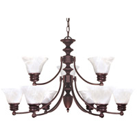 Empire 9 Light 32 inch Old Bronze Chandelier Ceiling Light