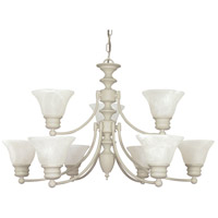 Empire 9 Light 32 inch Textured White Chandelier Ceiling Light