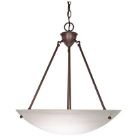 Signature 3 Light 23 inch Old Bronze Pendant Ceiling Light