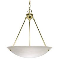Nuvo Lighting Signature 3 Light Pendant in Polished Brass 60/372 photo thumbnail