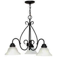 Nuvo 60/378 Castillo 3 Light 26 inch Textured Black Chandelier Ceiling Light