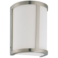 Odeon 1 Light 6 inch Brushed Nickel Vanity & Wall Wall Light