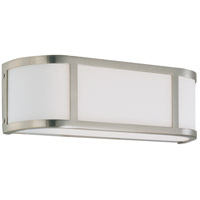 Odeon 2 Light 16 inch Brushed Nickel Vanity & Wall Wall Light