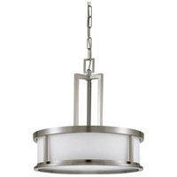 Odeon 4 Light 17 inch Brushed Nickel Pendant Ceiling Light