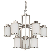 Nuvo 60/3809 Odeon 9 Light 30 inch Brushed Nickel Chandelier Ceiling Light photo thumbnail