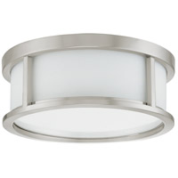 Odeon 2 Light 13 inch Brushed Nickel Flushmount Ceiling Light