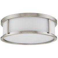 Nuvo 60/3812 Odeon 3 Light 15 inch Brushed Nickel Flushmount Ceiling Light