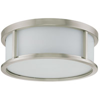 Odeon 3 Light 17 inch Brushed Nickel Flushmount Ceiling Light