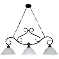 Castillo 3 Light 44 inch Textured Black Island Light Ceiling Light