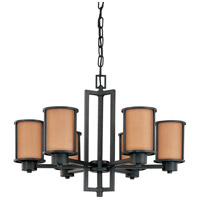 Nuvo Lighting Odeon 6 Light Chandelier in Aged Bronze 60/3826 photo thumbnail