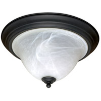 Castillo 2 Light 15 inch Textured Black Flushmount Ceiling Light