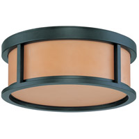 Nuvo Lighting Odeon 2 Light Flushmount in Aged Bronze 60/3831