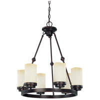 Nuvo Lighting Lucern 6 Light Chandelier in Patina Bronze 60/3845 photo thumbnail