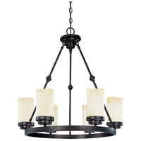 Nuvo Lighting Lucern 6 Light Chandelier in Patina Bronze 60/3846 photo thumbnail