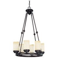 Nuvo Lighting Lucern 6 Light Chandelier in Patina Bronze 60/3847 photo thumbnail