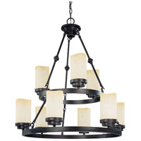Nuvo Lighting Lucern 9 Light Chandelier in Patina Bronze 60/3849 photo thumbnail