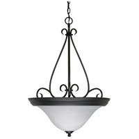 Nuvo 60/385 Castillo 3 Light 21 inch Textured Black Pendant Ceiling Light