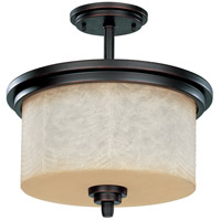 Nuvo Lighting Lucern 3 Light Semi-Flush in Patina Bronze 60/3852 photo thumbnail