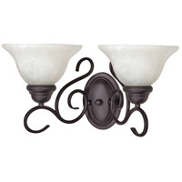 Nuvo Lighting Castillo 2 Light Vanity & Wall in Textured Black 60/388