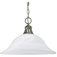 Nuvo 60/390 Signature 1 Light 16 inch Brushed Nickel Pendant Ceiling Light photo thumbnail