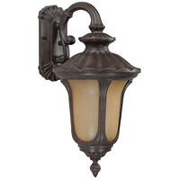 Nuvo Lighting Beaumont 1 Light Outdoor Wall with Photocell Lantern in Fruitwood 60/3902