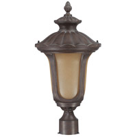 Nuvo Lighting Beaumont 1 Light Outdoor Post Lantern with Photocell in Fruitwood 60/3909
