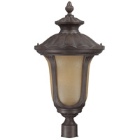 Nuvo Lighting Beaumont 1 Light Outdoor Post Lantern with Photocell in Fruitwood 60/3911