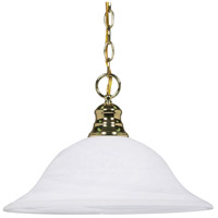 Nuvo 60/392 Signature 1 Light 16 inch Polished Brass Pendant Ceiling Light