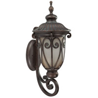 Nuvo Lighting Corniche 1 Light Outdoor Wall Lantern with Photocell in Burlwood 60/3921