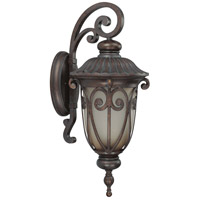 Nuvo Lighting Corniche 1 Light Outdoor Wall Lantern with Photocell in Burlwood 60/3922