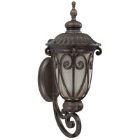 Nuvo Lighting Corniche 1 Light Outdoor Wall Lantern with Photocell in Burlwood 60/3923