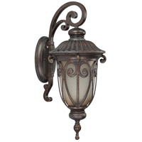 Nuvo Lighting Corniche 1 Light Outdoor Wall Lantern with Photocell in Burlwood 60/3924