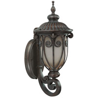 Nuvo Lighting Corniche 1 Light Outdoor Wall Lantern with Photocell in Burlwood 60/3925
