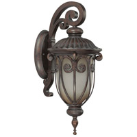 Nuvo Lighting Corniche 1 Light Outdoor Wall Lantern with Photocell in Burlwood 60/3926