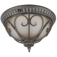 Corniche 2 Light 14 inch Burlwood Outdoor Flushmount