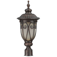Nuvo Lighting Corniche 1 Light Outdoor Post Lantern with Photocell in Burlwood 60/3929