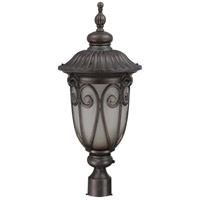 Nuvo Lighting Corniche 1 Light Outdoor Post Lantern with Photocell in Burlwood 60/3931