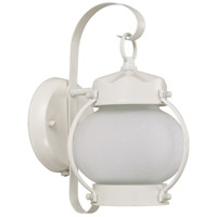 Nuvo Lighting Signature 1 Light Outdoor Wall Lantern in White 60/3941